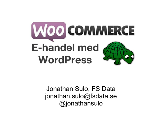 WooCommerce, E-handel med WordPress