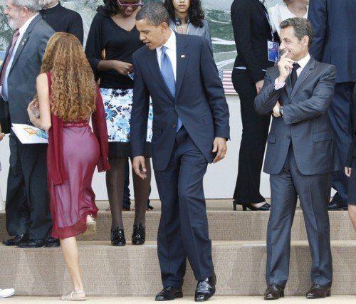 Obama spanar in en bakdel