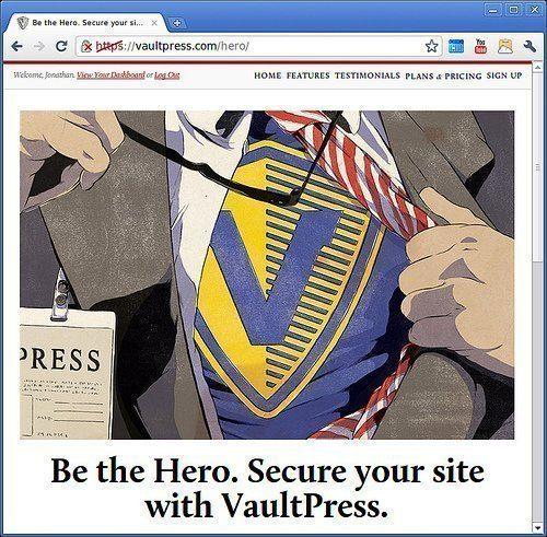 Reklam hos VaultPress