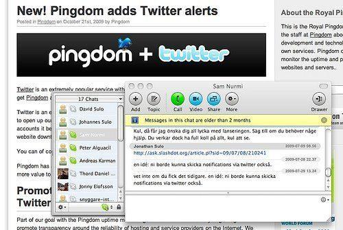 Pingdom + Twitter = grym idé