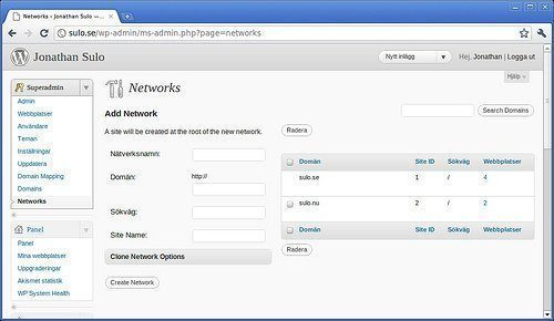 WP Multi Networks